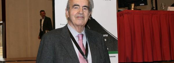 Javier Manterola presenta en el congreso el Puente de la Bahía